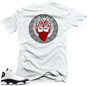 c71fd5d063b0a4 Shirt to Match Jordan 13 He Got Game Sneakers. Medusa White Tee