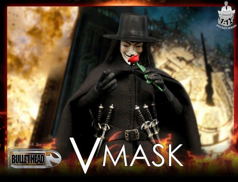 Cabeza de bala (BH004) 1 12 escala vmask Vendetta 6  Figura De Acción enmasCocheada headsculpt