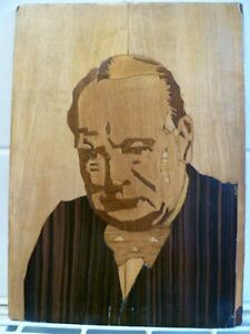 A-VINTAGE-HAND-CRAFTED-WOOD-MARQUETRY-CARICATURE-OF-A-WW11-ERA-WINSTON-CHURCHILL