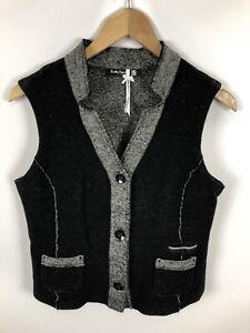 BETTY-BARCLAY-Damen-Weste-Groesse-40-schwarz-grau-schick-und-fein-Wolle