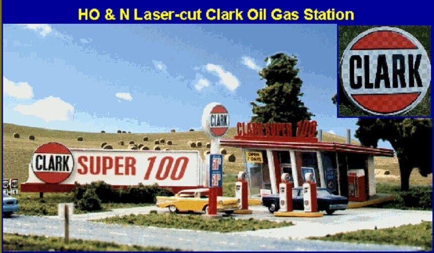 Blair Line 187 Clark Oil Gas Station Petrol Station H0 1 87 Laser Cut