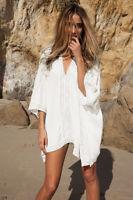 Damen Bikini Cover Up Strand Kleid Bademode Strandkleid Badeanzug Beachwear