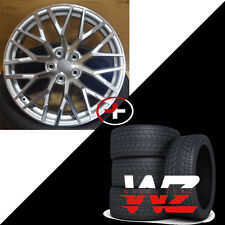20 inch Audi R8 V10 Silver Wheels w/ Tires Fits Audi A4 A6 A7 A8 S4 VW CC Rims