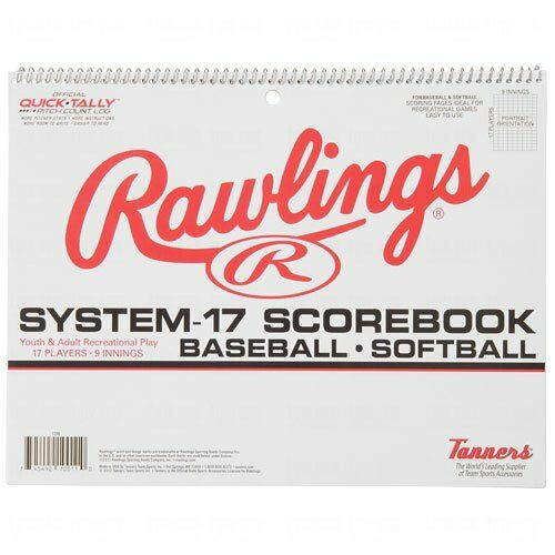 Rawlings System-17 Baseball Softball Scorebook Score Book Official Quick-Tally
