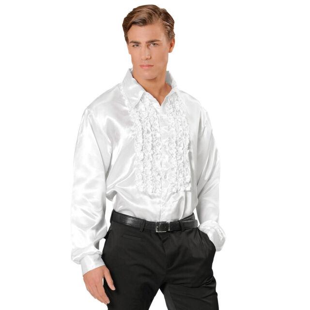 70er Jahre Rüschenhemd Satinhemd Männer Rüschen Hemd Satin Retro Discohemd
