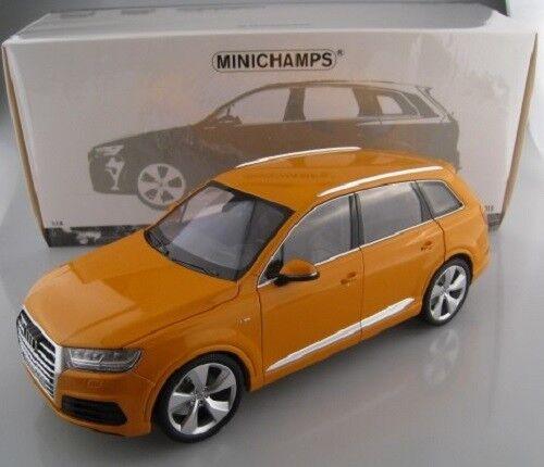 Audi q7 2015 in Orange limitée à 300 pièces Minichamps 1 18 neuf dans sa boîte NEUF