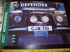 LAND ROVER Defender 2000 Accessories BROCHURE ORIGINAL new condition 90 110 130