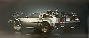Michael-J-Fox-Signed-Back-To-The-Future-DeLorean-24x55-Glossy-Photo-RARE-COA
