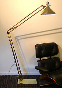 Giant Luxo Floor Lamp Articulating Floating Arm Architect Mid Century Modern Ebay