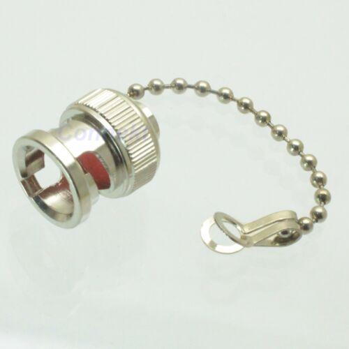 10pcs bouchon anti-poussière avec chaîne pour BNC femelle RF Connecteur Plug