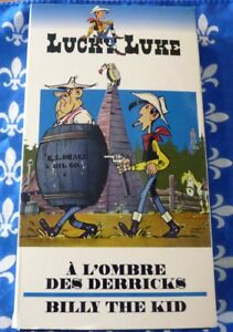 VHS-French-Movie-A-L-039-ombre-des-Derricks-Billy-the-Kid-Lucky-Luke-No-7