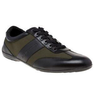 6bb9f111 Details about New MENS EMPORIO ARMANI BLACK FORMAL SNEAKER LEATHER Sneakers