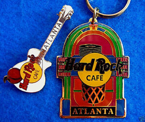 Atlanta-Wurlitzer-Jukebox-Portachiavi-amp-Gibson-Les-Paul-Guitar-Hard-Rock-Cafe