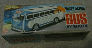 RARE-Vintage-MARX-BATTERY-OPERATED-TRICKY-ACTION-BUS-VGEX-Original-Box