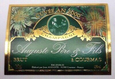 ETIQUETTE DE CHAMPAGNE MILLÉSIME 1995 CUVÉE AN 2000 LASSAIGNE JACQUES #8829