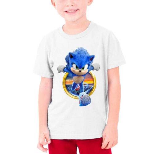 Sonic The Hedgehog Movie Kids Youth 100/% Cotton T-Shirt Short Sleeve Tops Tee