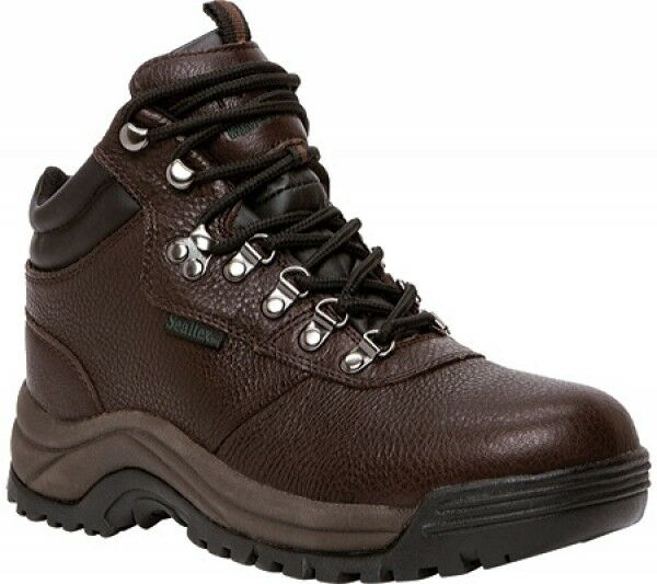 NEW NEW NEW Mens Propet Cliff Walker Waterproof Bronco braun Leather Hiking Stiefel d50166
