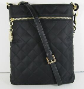 7c09770fe20741 Tommy Hilfiger $88 NEW Black Quilted Charm North South Crossbody ...