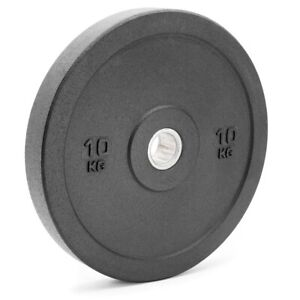 Bumper-Weight-Plates-Black-Olympic-Size-Rubber-Crumb-5kg-10kg-15kg-20kg-Gym