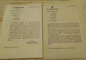 1869-LOTTO-DI-CIRCOLARI-DA-LECCE-SU-VAIOLO-UMANO-VAIOLO-OVINO-E-VACCINAZIONI