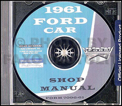 Fairlane Sunliner /& Ranch Wagon Shop Manual CD Starliner FORD 1961 Galaxie