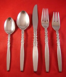 LYON INTERNATIONAL SILVER ALHAMBRA STAINLESS Tea Spoons LOT OF 4
