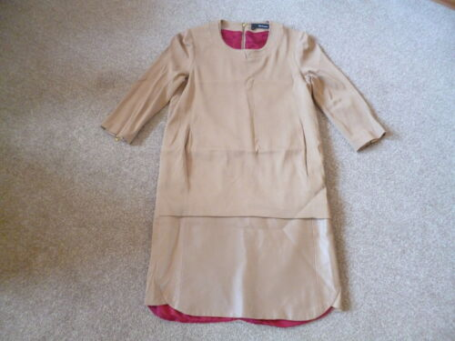 Dress Leather Kooples 4 Xs Camel 6 Trim The q6Exfxg