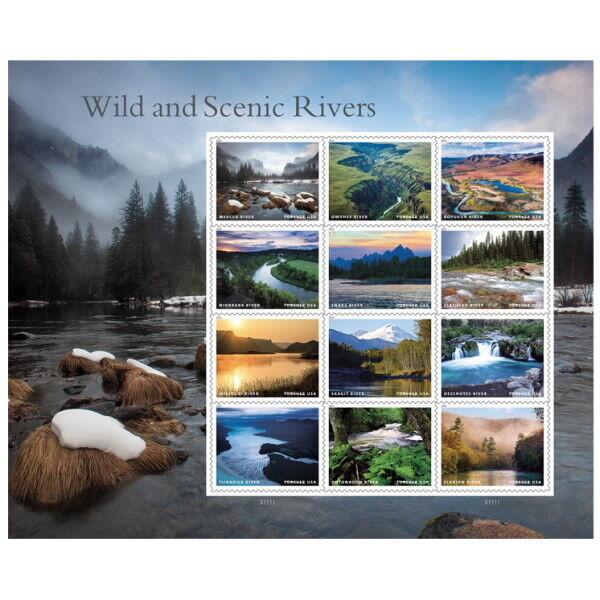 2019 55c America's Wild & Scenic Rivers/Streams, Mint S