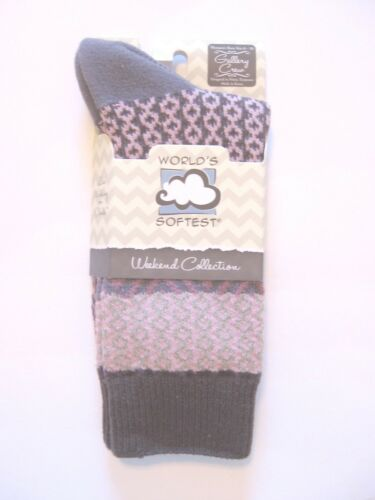 NEW Weekend Collection Crew Length Abigail World/'s Softest Socks
