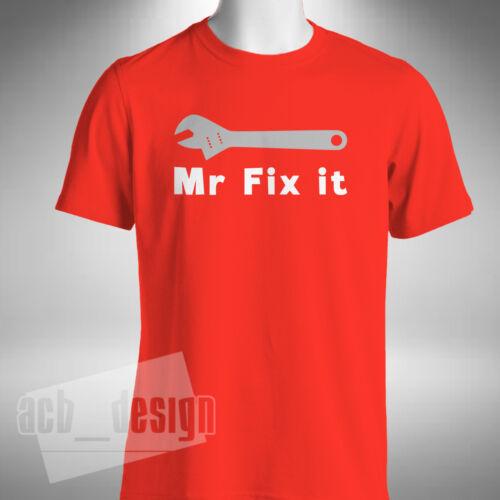 Mr Fix It Mens T-Shirt Funny Christmas Birthday Present Gift Joke Dad Father