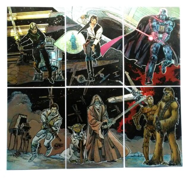 Star Wars Galaxy 4 Etched Foil Puzzle Chase Card #1