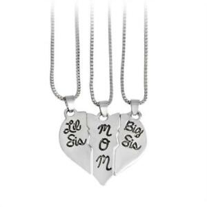 3Pcs-Necklace-Love-Heart-Pendant-Mother-Daughters-Children-Birthday-Family-Gift