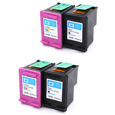 4PK for HP 122XL Black Tri-color Ink Cartridge CH563HE CH564HE Show Accurate Ink