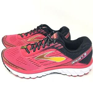 1a5912062ea Brooks Ghost 9 Women s Black Pink Running Athletic Sneakers Shoes ...