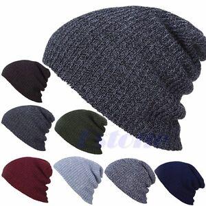 17952925f06 Men s Women s Knit Baggy Beanie Oversize Winter Hat Ski Slouchy Chic ...
