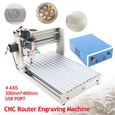 4 Axis Cnc Router Kit 3040t Er11 Engraver Machine Usb Pcb Milling Wood Carving