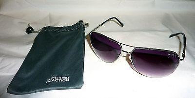 Kenneth Cole Reaction KCR1098-10B Men's/Unisex Aviator Sunglasses SILVER TONE