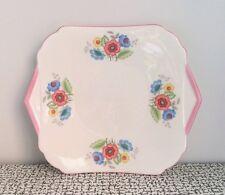 30s Art Deco Vintage Shelley Floral Flowers Bone China Cake Plate Wedding Regent