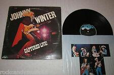 JOHNNY WINTER - CAPTURED LIVE! / USED VINYL LP / 1976 BLUE SKY PZ 33944