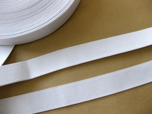 0,60€ pro Meter 5 Meter Gummiband weiß,15mm breit, G3