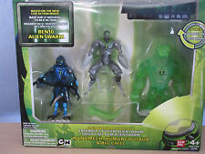 Ben 10 Alien Swarm Set 2: Nanomech, Humungousaur, Big Chill Figures (Bandai) NIB