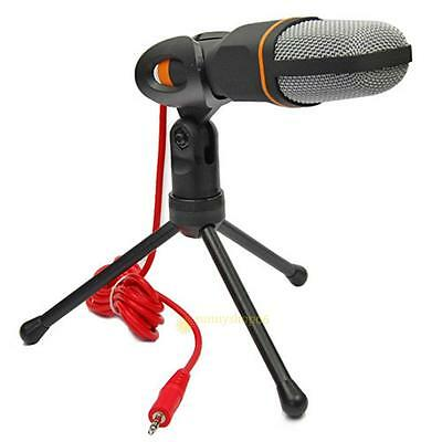 Universal 3.5mm Audio Condenser Microphone Mic Stereo Studio Sound Recording NEW
