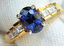 GIA COLOR CHANGE NO HEAT 3.26CT NATURAL SAPPHIRE DIAMONDS RING UNHEATED 14KT A+