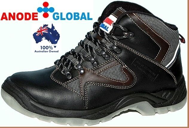 Anode Global Mens Shoes and Work Boots Safety Steel Toe Cap Brand New Industrial
