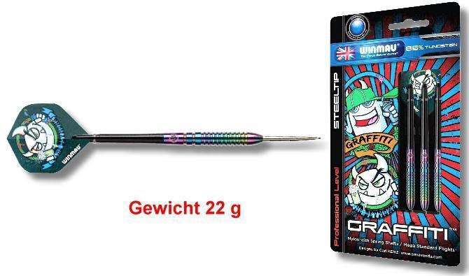 Steeldart Pfeile Winmau Graffiti Graffiti Graffiti Steel 22g    Sale Deutschland  3b0dbc