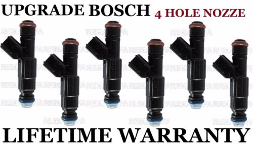 Upgrade 4 Hole Bosch 6Pcs Injectors for Chevy Equinox Pontaic Torrent 3.4L V6