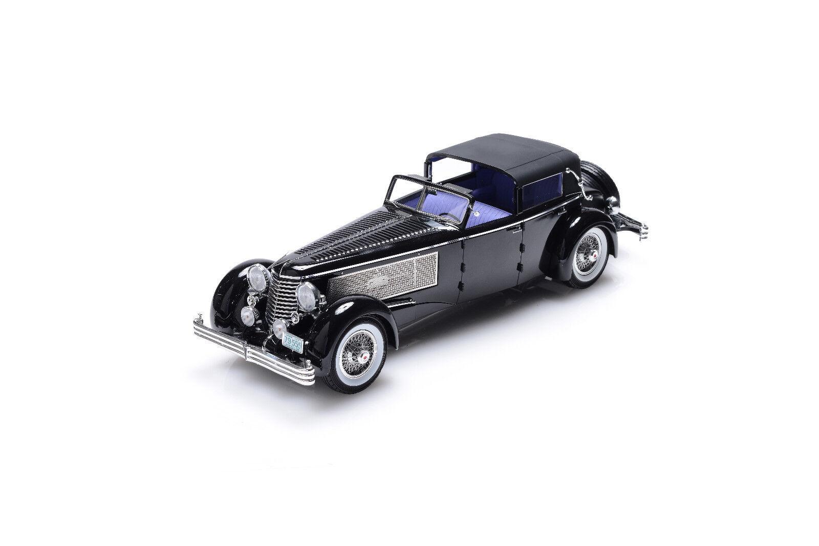 1 18  Esval 1937 Duesenberg SJ Town Car Chassis  2405 Rollson open driver side