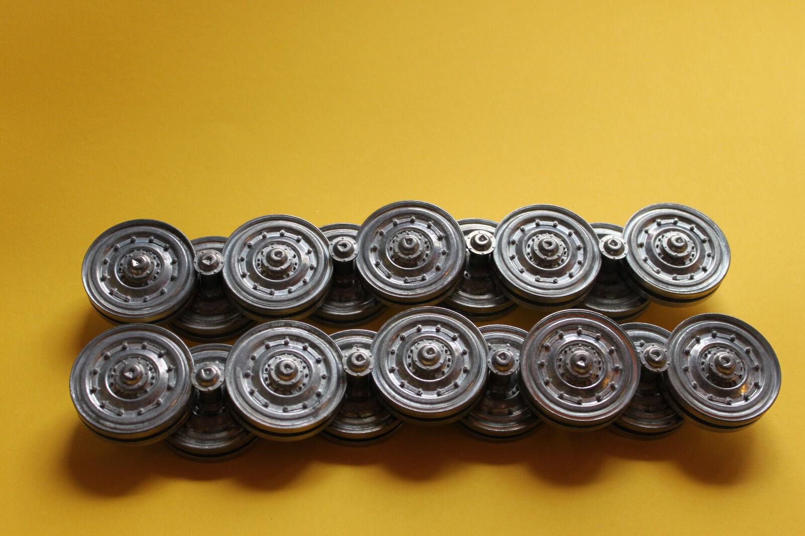 Metal Laufräder & Metall Schwingarme für den Königstiger von Henglong 1 16