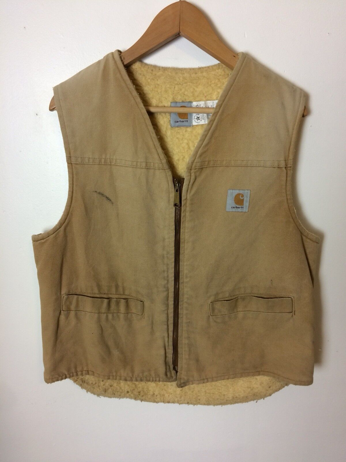 f904845061 Vintage CARHARTT Sherpa Lined Vest Size Large Faded Brown Union Made In  USA. N2N Men's FS2 Yellow Fusion Trunk Bikini - Nylon Spandex - Unlined ...