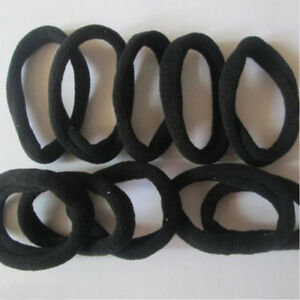Hot-BLACK-10pcs-Girls-elastic-hair-ties-band-rope-ponytail-bracelets-scrunchie